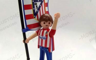 Aficionado Fútbol Atlético de Madrid  Custom Playmobil