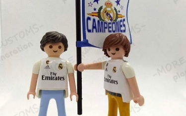 Aficionado fútbol Real Madrid  Custom Playmobil