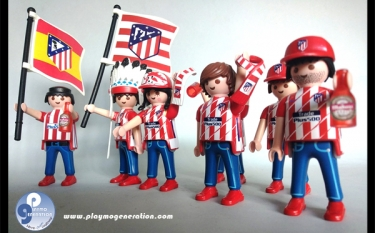Aficionado Fútbol Atlético de Madrid | Custom Playmobil